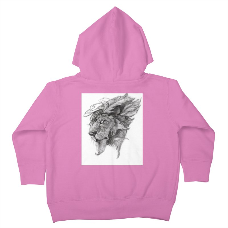 He isn't safe, but, he's good Kids Toddler Zip-Up Hoody by Draw Juice Custom Art Prints