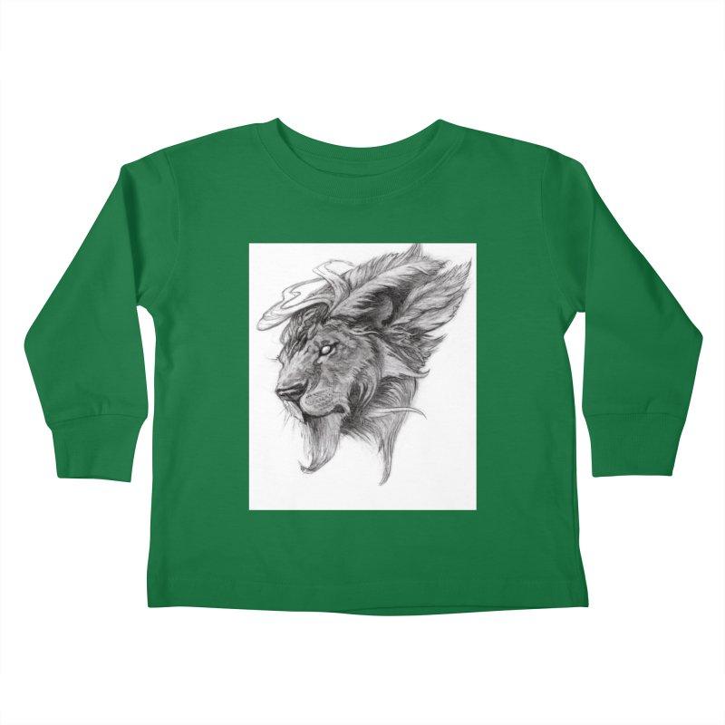 He isn't safe, but, he's good Kids Toddler Longsleeve T-Shirt by Draw Juice Custom Art Prints