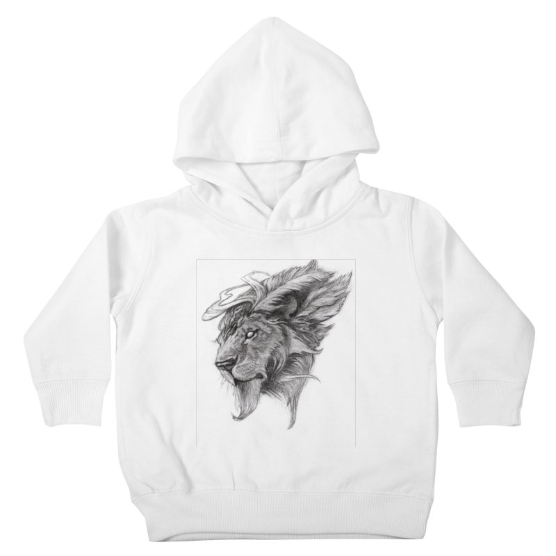 He isn't safe, but, he's good Kids Toddler Pullover Hoody by Draw Juice Custom Art Prints