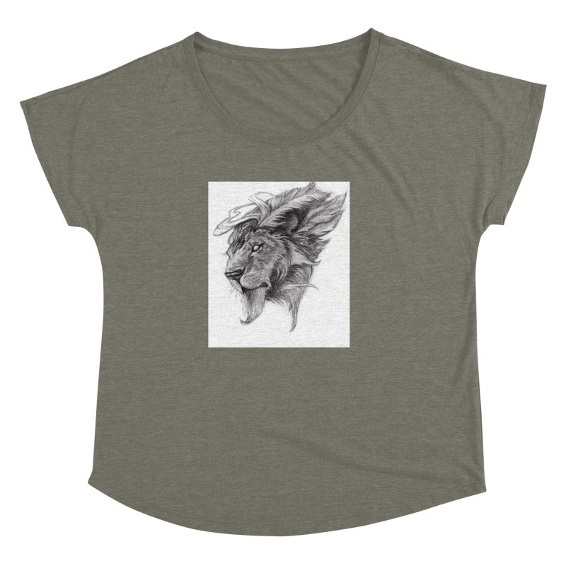 He isn't safe, but, he's good Women's Dolman Scoop Neck by Draw Juice Custom Art Prints