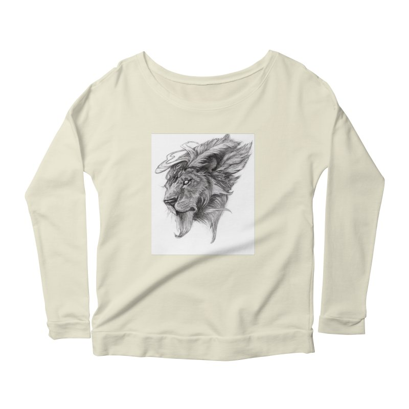 He isn't safe, but, he's good Women's Scoop Neck Longsleeve T-Shirt by Draw Juice Custom Art Prints