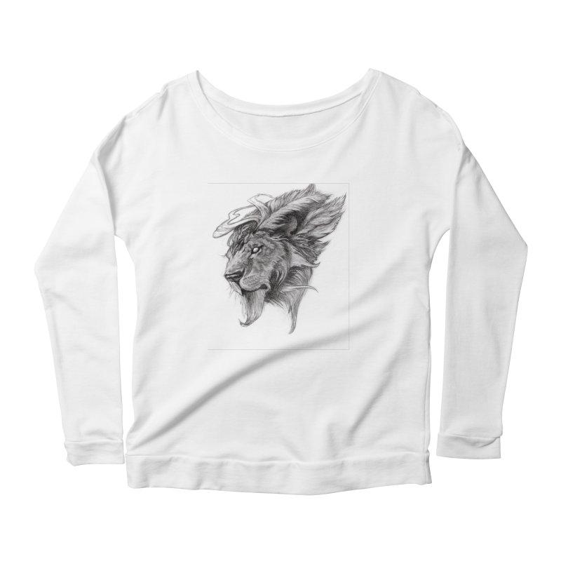 He isn't safe, but, he's good Women's Scoop Neck Longsleeve T-Shirt by Draw Juice Custom Art Prints