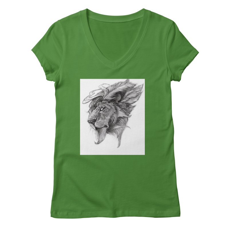 He isn't safe, but, he's good Women's Regular V-Neck by Draw Juice Custom Art Prints