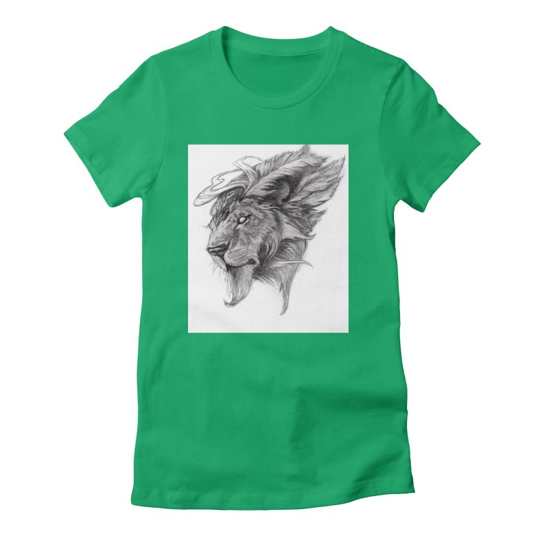 He isn't safe, but, he's good Women's Fitted T-Shirt by Draw Juice Custom Art Prints