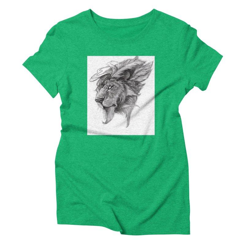 He isn't safe, but, he's good Women's Triblend T-Shirt by Draw Juice Custom Art Prints