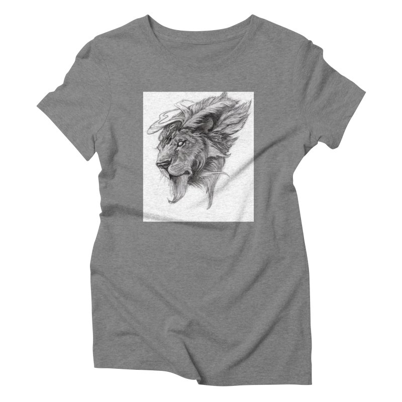 He isn't safe, but, he's good Women's Triblend T-Shirt by Draw Juice Custom Art Prints