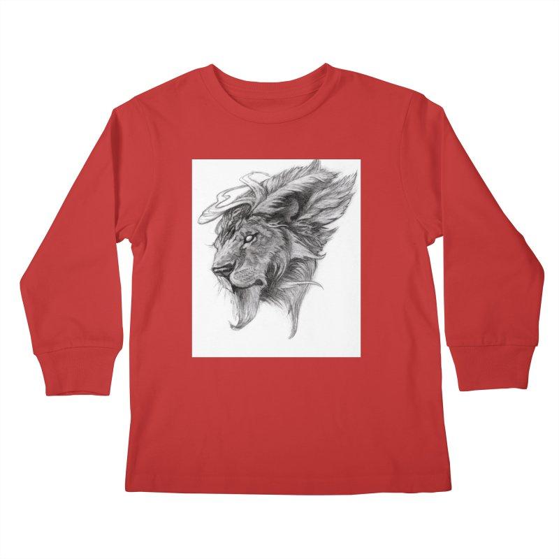 He isn't safe, but, he's good Kids Longsleeve T-Shirt by Draw Juice Custom Art Prints