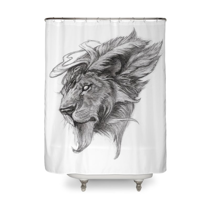 He isn't safe, but, he's good Home Shower Curtain by Draw Juice Custom Art Prints