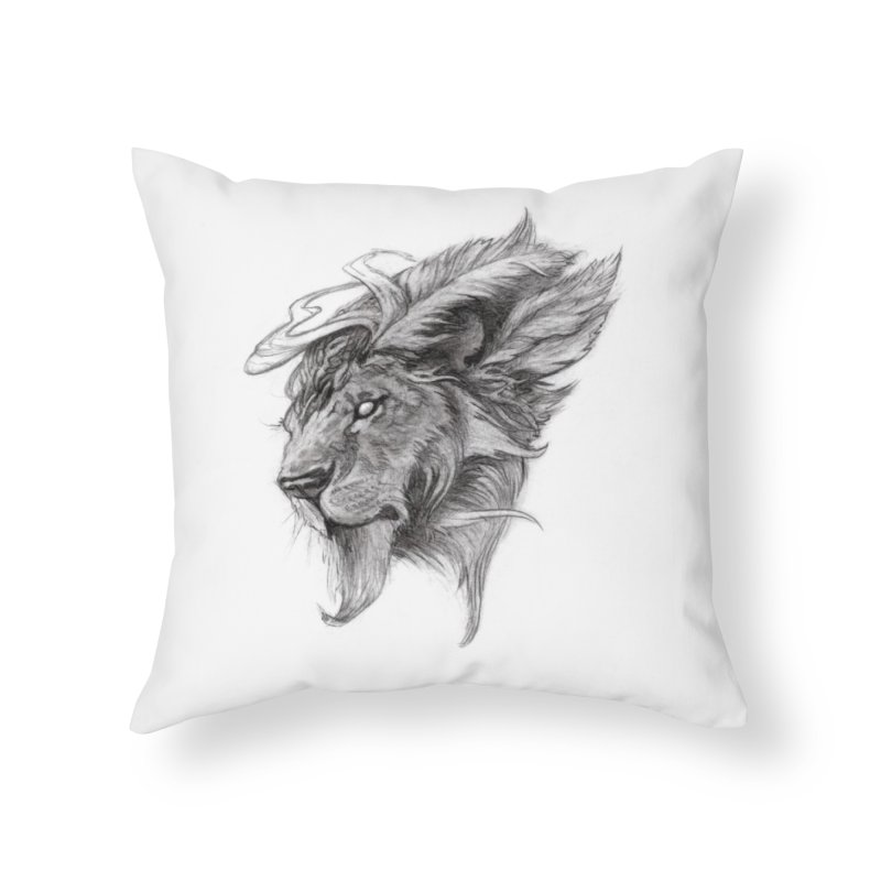 He isn't safe, but, he's good Home Throw Pillow by Draw Juice Custom Art Prints