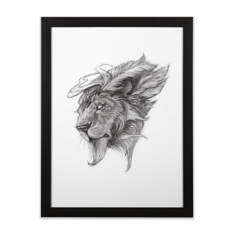 He isn't safe, but, he's good Home Framed Fine Art Print by Draw Juice Custom Art Prints