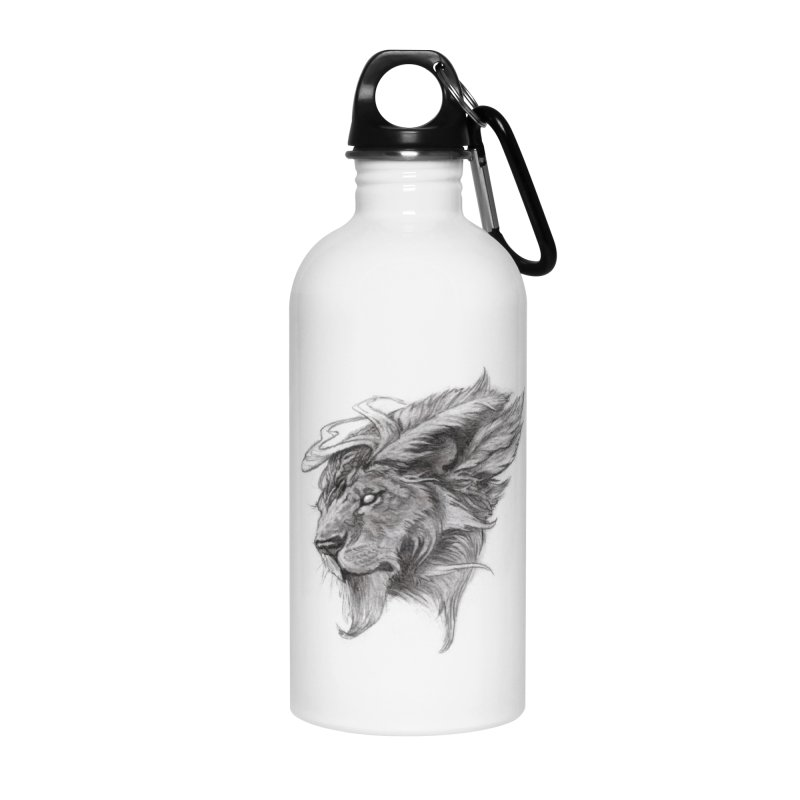 He isn't safe, but, he's good Accessories Water Bottle by Draw Juice Custom Art Prints