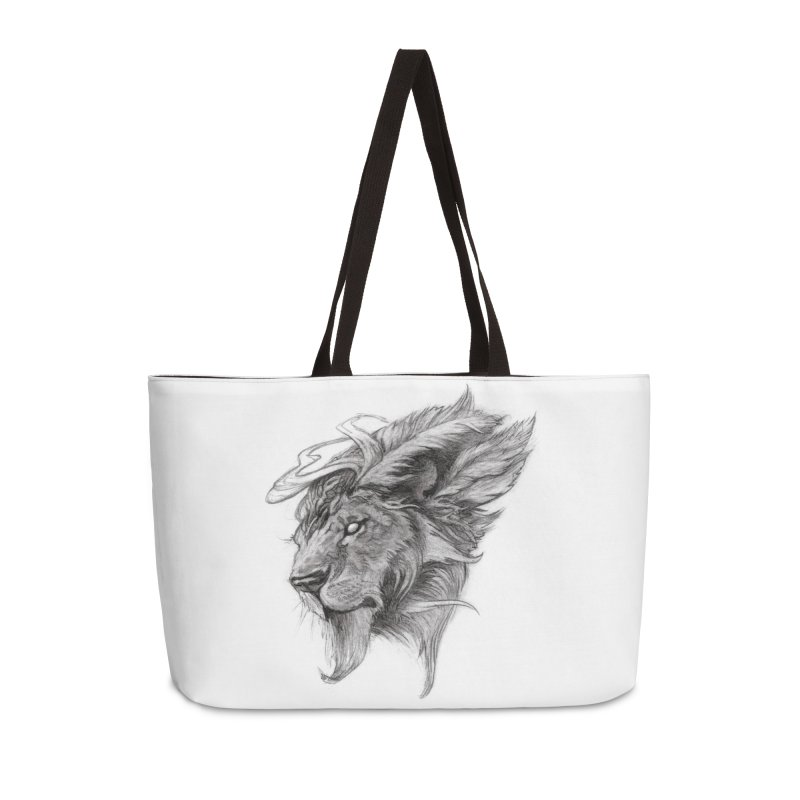 He isn't safe, but, he's good Accessories Weekender Bag Bag by Draw Juice Custom Art Prints