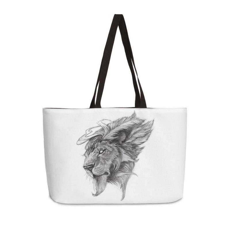 He isn't safe, but, he's good Accessories Bag by Draw Juice Custom Art Prints