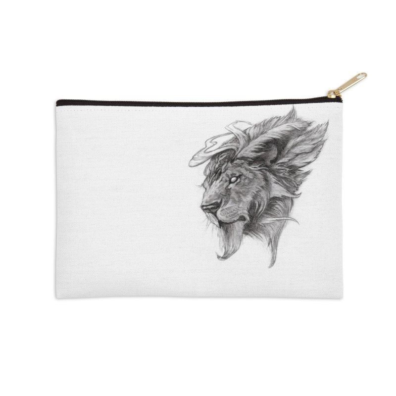 He isn't safe, but, he's good Accessories Zip Pouch by Draw Juice Custom Art Prints