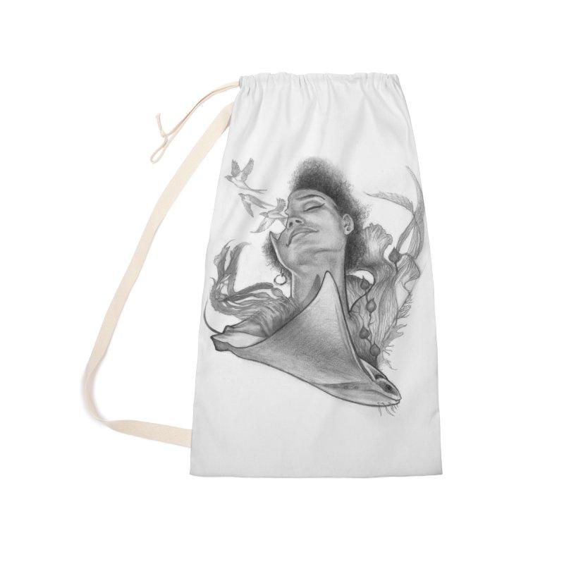 Kelp Dream Accessories Bag by Draw Juice Custom Art Prints