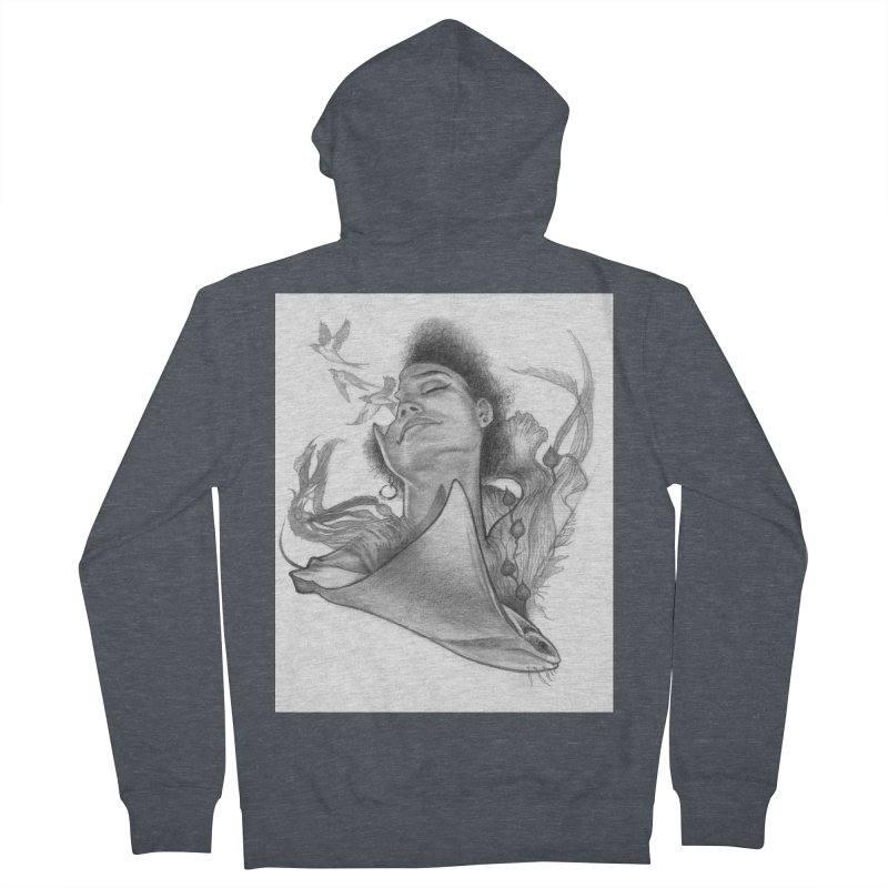 Kelp Dream Women's French Terry Zip-Up Hoody by Draw Juice Custom Art Prints
