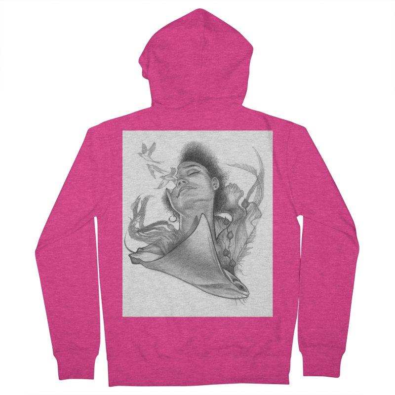 Kelp Dream Women's French Terry Zip-Up Hoody by Draw Juice Custom Art Prints