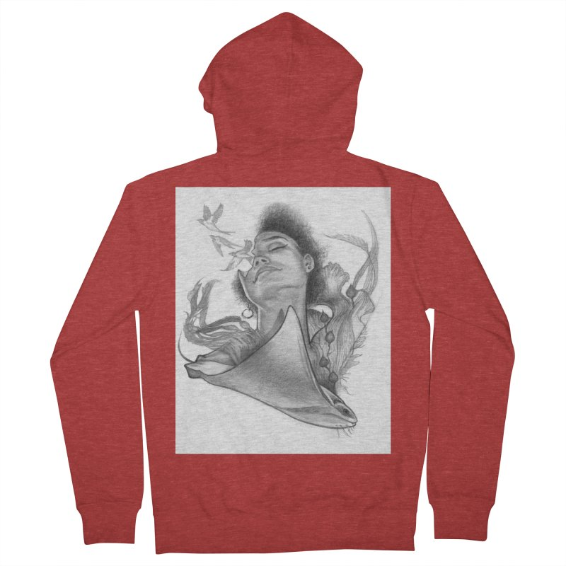 Kelp Dream Men's French Terry Zip-Up Hoody by Draw Juice Custom Art Prints