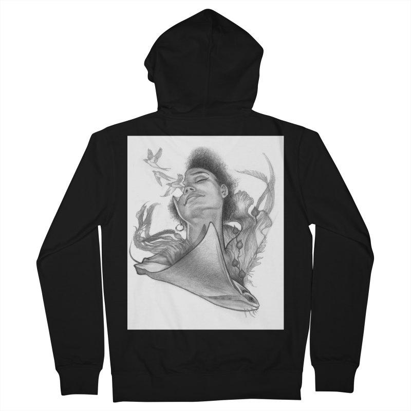 Kelp Dream Men's French Terry Zip-Up Hoody by Draw Juice Custom Art Prints