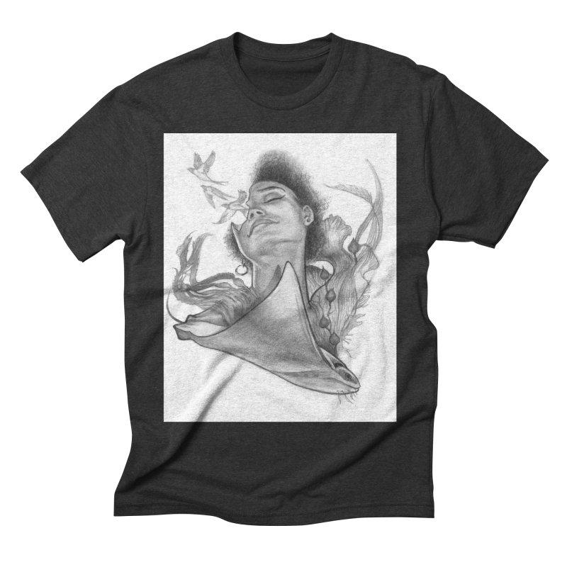 Kelp Dream Men's Triblend T-Shirt by Draw Juice Custom Art Prints