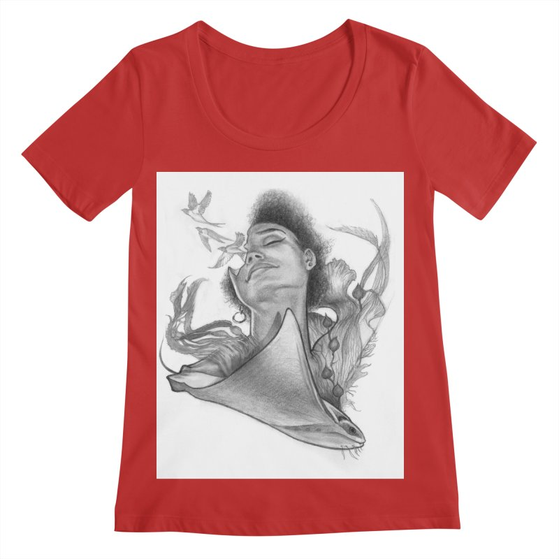 Kelp Dream Women's Regular Scoop Neck by Draw Juice Custom Art Prints