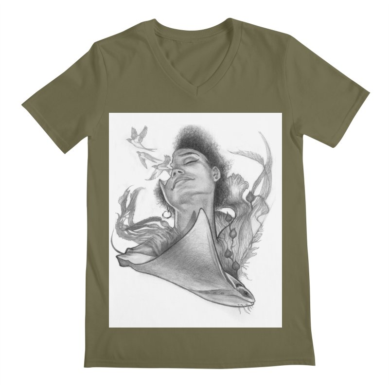 Kelp Dream Men's Regular V-Neck by Draw Juice Custom Art Prints