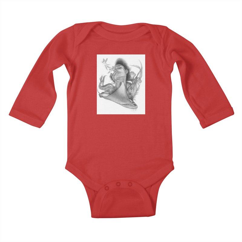 Kelp Dream Kids Baby Longsleeve Bodysuit by Draw Juice Custom Art Prints