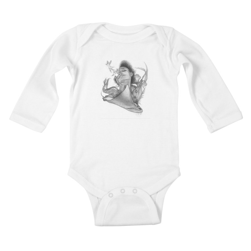 Kelp Dream Kids Baby Longsleeve Bodysuit by Draw Juice Custom Art Prints