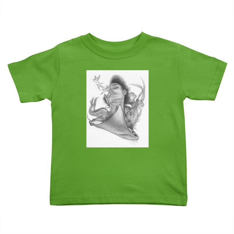 Kelp Dream Kids Toddler T-Shirt by Draw Juice Custom Art Prints