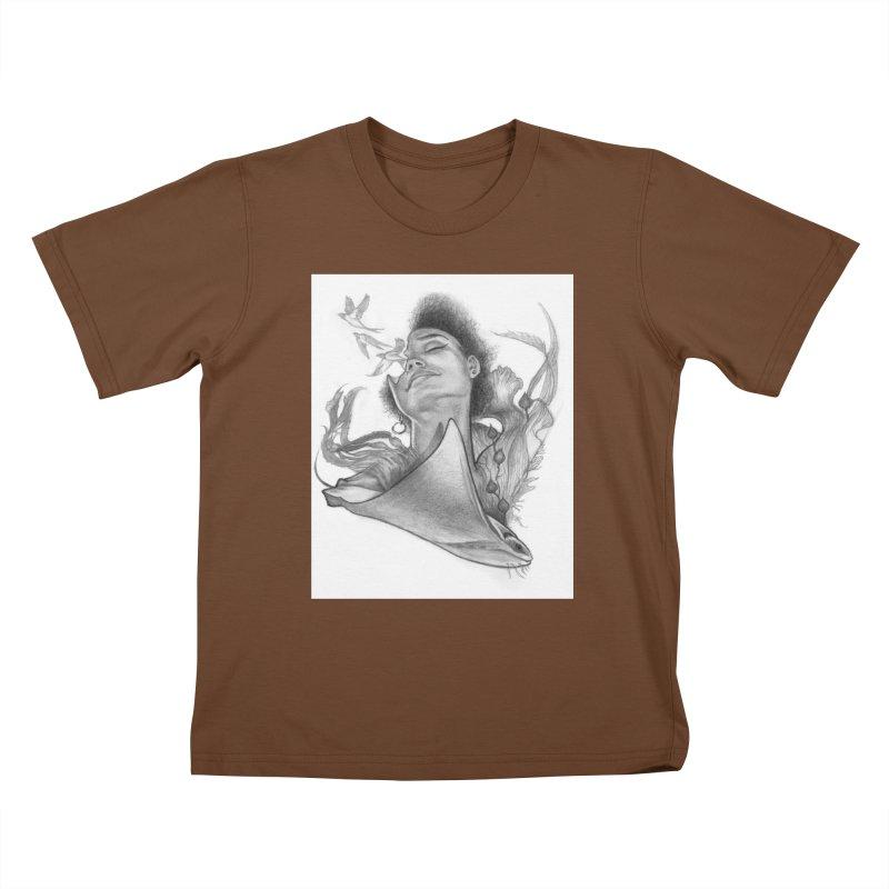 Kelp Dream Kids T-Shirt by Draw Juice Custom Art Prints