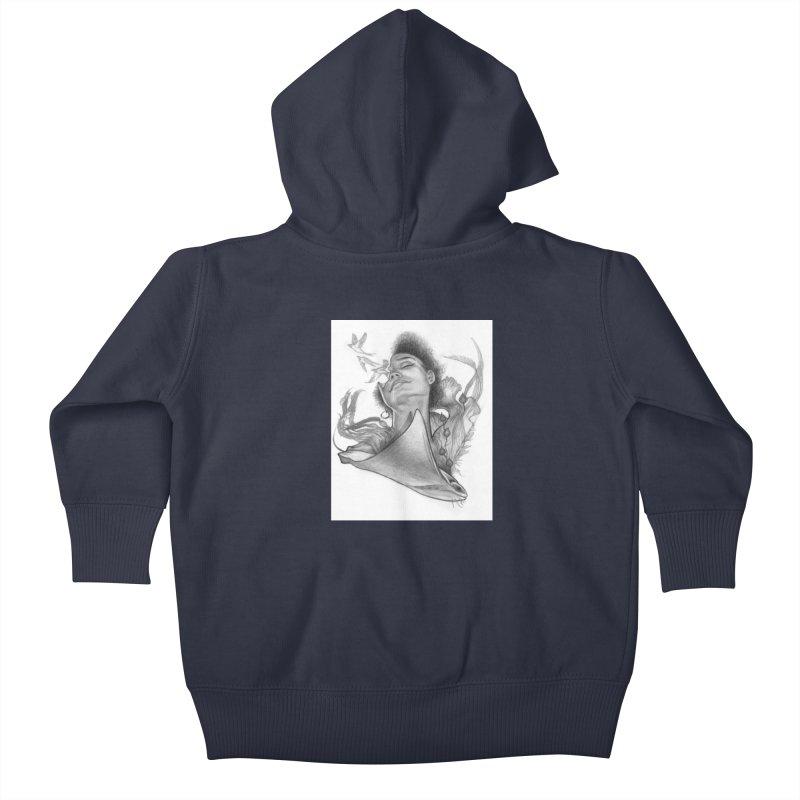 Kelp Dream Kids Baby Zip-Up Hoody by Draw Juice Custom Art Prints