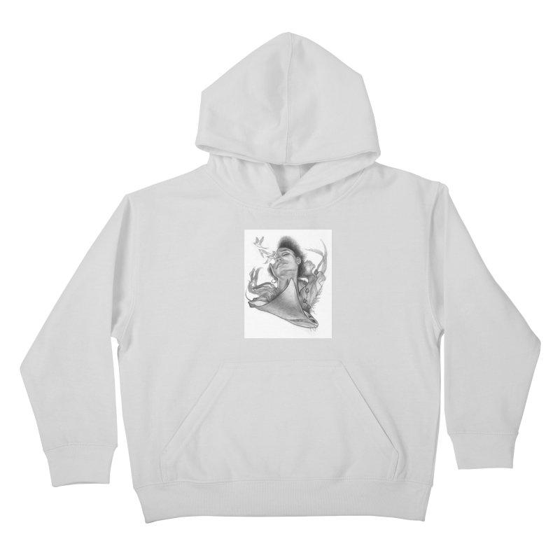 Kelp Dream Kids Pullover Hoody by Draw Juice Custom Art Prints