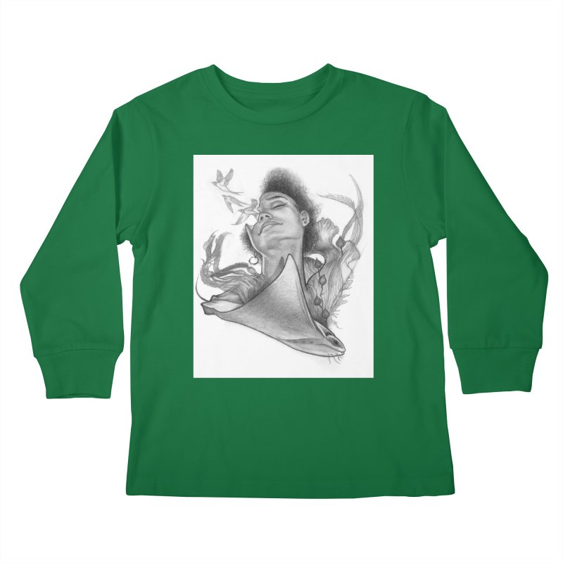 Kelp Dream Kids Longsleeve T-Shirt by Draw Juice Custom Art Prints