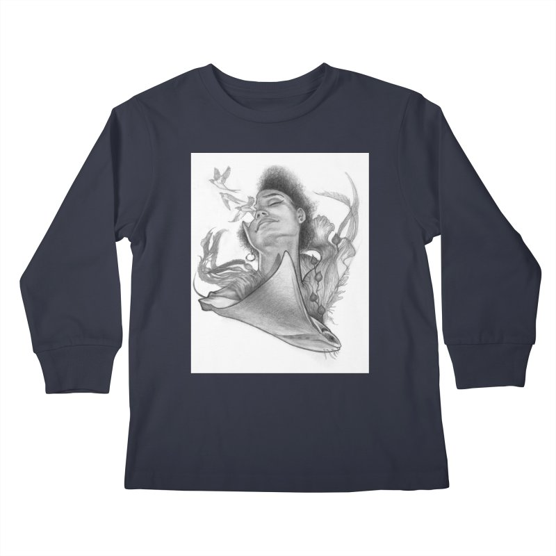 Kelp Dream Kids Longsleeve T-Shirt by Draw Juice Custom Art Prints