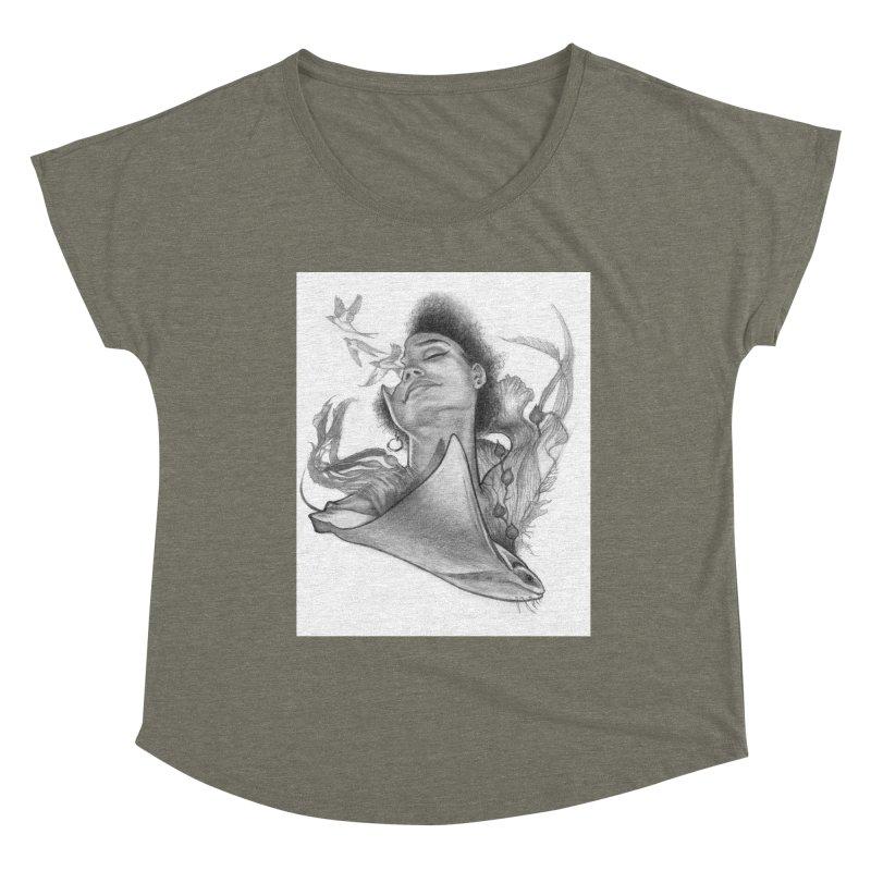 Kelp Dream Women's Scoop Neck by Draw Juice Custom Art Prints