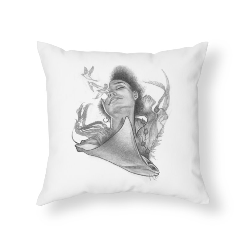 Kelp Dream Home Throw Pillow by Draw Juice Custom Art Prints