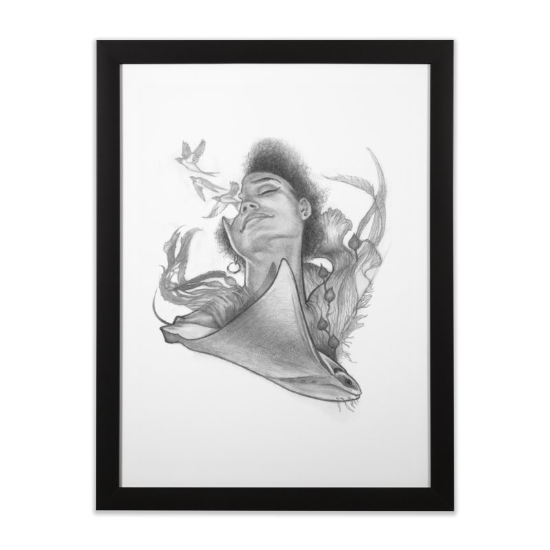 Kelp Dream Home Framed Fine Art Print by Draw Juice Custom Art Prints
