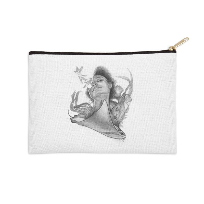 Kelp Dream Accessories Zip Pouch by Draw Juice Custom Art Prints