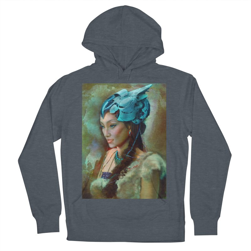 Ha Te Men's French Terry Pullover Hoody by Draw Juice Custom Art Prints