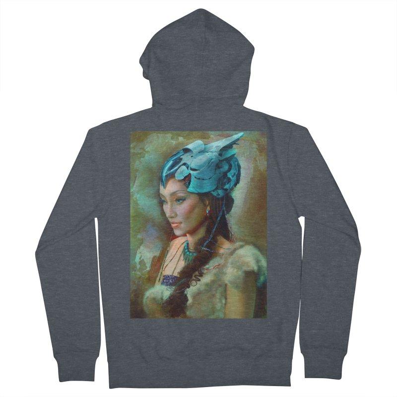 Ha Te Women's Zip-Up Hoody by Draw Juice Custom Art Prints