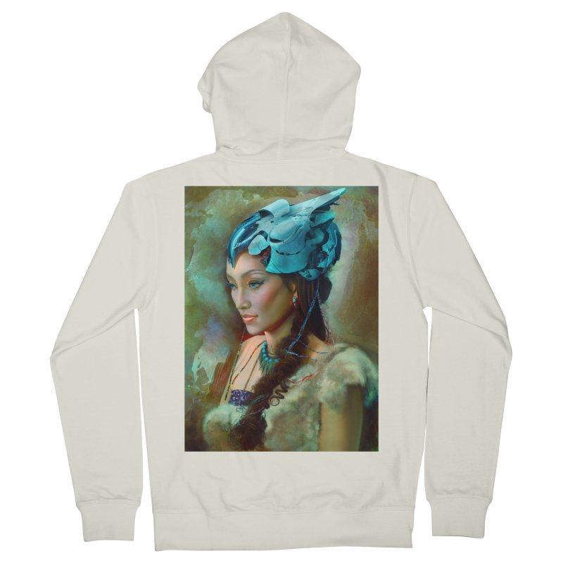 Ha Te Women's French Terry Zip-Up Hoody by Draw Juice Custom Art Prints