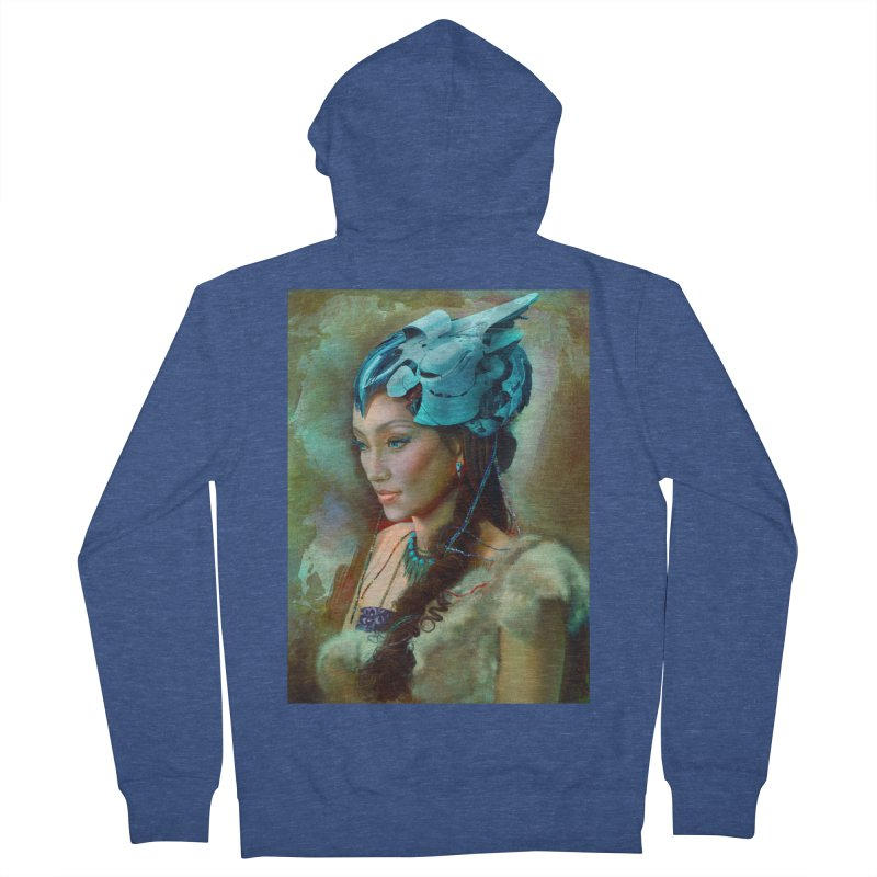 Ha Te Men's Zip-Up Hoody by Draw Juice Custom Art Prints