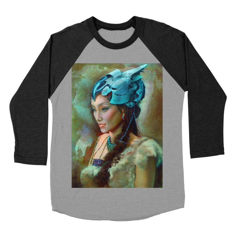 Ha Te Women's Baseball Triblend Longsleeve T-Shirt by Draw Juice Custom Art Prints