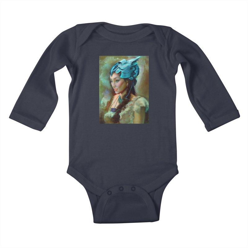 Ha Te Kids Baby Longsleeve Bodysuit by Draw Juice Custom Art Prints
