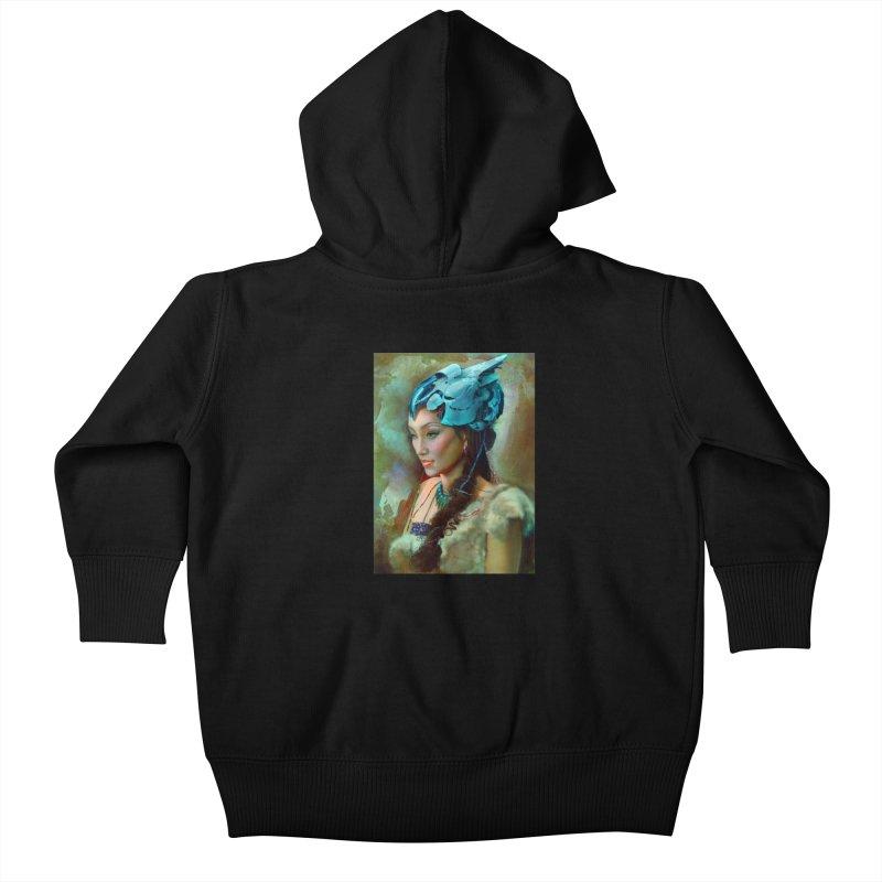 Ha Te Kids Baby Zip-Up Hoody by Draw Juice Custom Art Prints