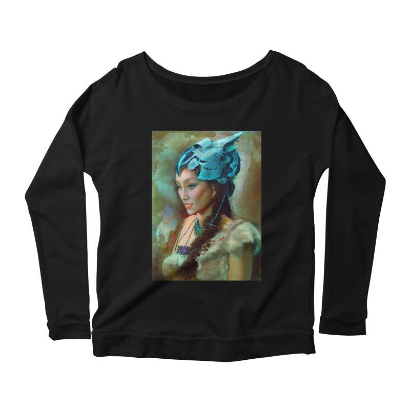 Ha Te Women's Scoop Neck Longsleeve T-Shirt by Draw Juice Custom Art Prints