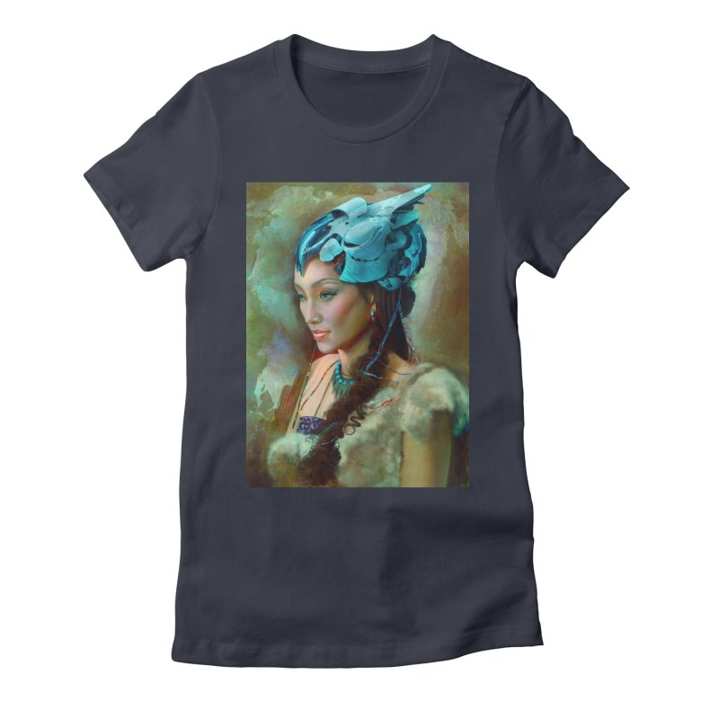 Ha Te Women's Fitted T-Shirt by Draw Juice Custom Art Prints