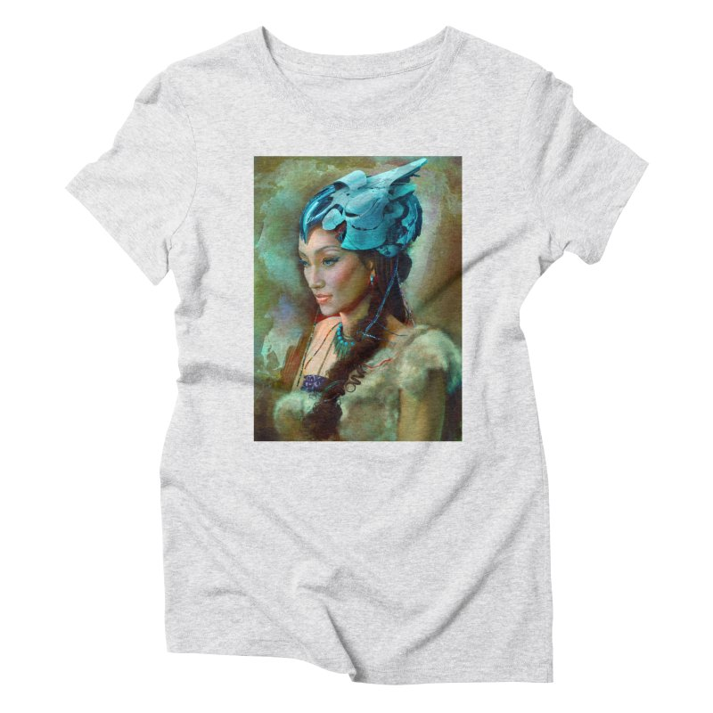 Ha Te Women's Triblend T-Shirt by Draw Juice Custom Art Prints