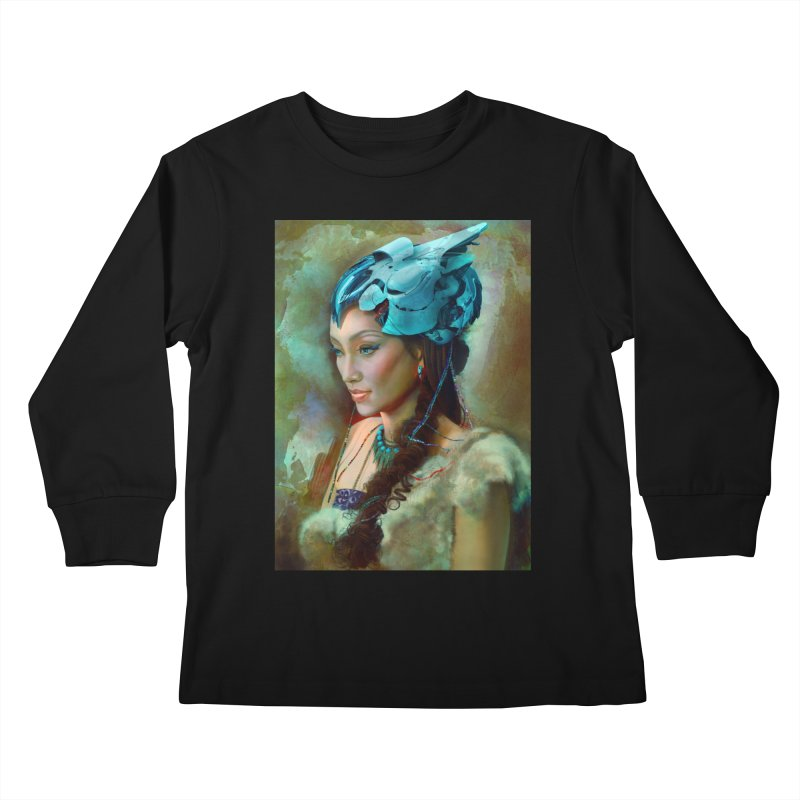 Ha Te Kids Longsleeve T-Shirt by Draw Juice Custom Art Prints