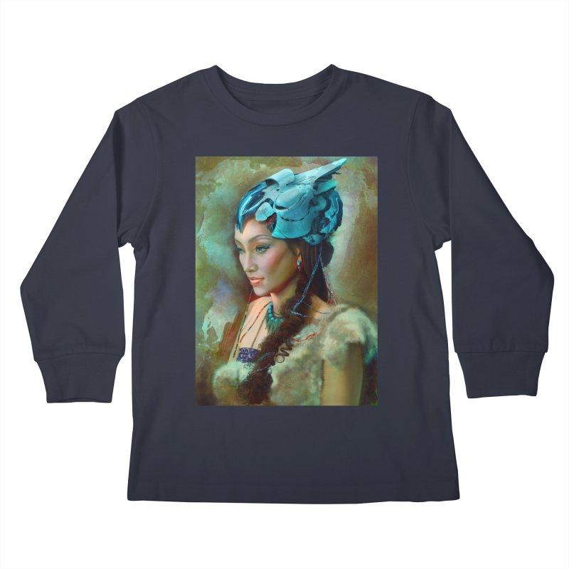 Ha Te Kids Longsleeve T-Shirt by Draw Juice Custom Art Prints
